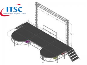 Portable concert stages for sale